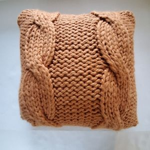 Threshold Cable Knit Throw Toss Pillow Ginger
